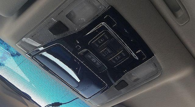 アルファード ヴェルファイア 30系 全グレード対応 トヨタ 3D立体 オーバーヘッド コンソール インテリアパネル 2P ピアノブラック8