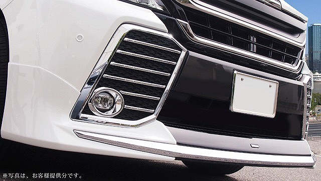 ヴェルファイア 30系 Z/ZA/ZRシリーズ トヨタ フロント フォグカバー ガーニッシュ 左右セット14