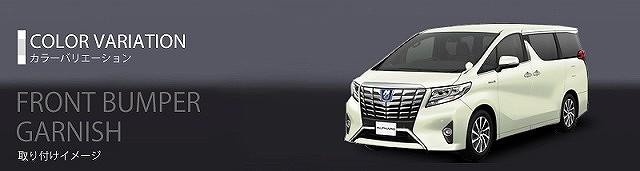 アルファード 30系 EL/G/GF/Xシリーズ トヨタ フロント バンパートリム ナンバープレート周り ガーニッシュ