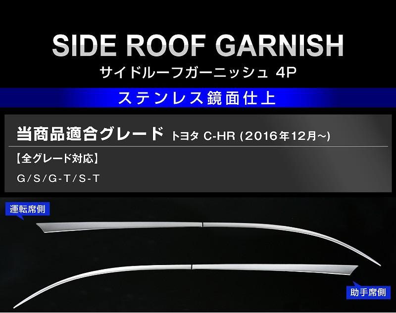 C-HR サイドルーフガーニッシュ4P