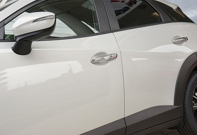 新型CX-3 マツダ ドアノブ ドアハンドルカバーガーニッシュメッキ仕上げ全グレード対応