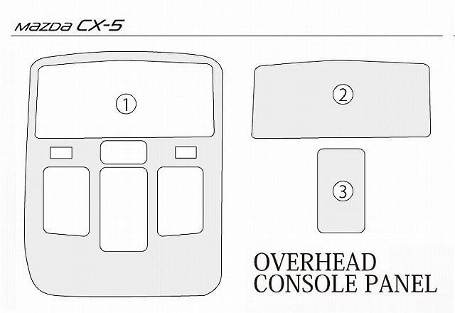 CX-5,KE系,マツダ,3D立体,オーバーヘッドコンソールパネル,インテリアパネル,3P,ピアノブラック仕上げ