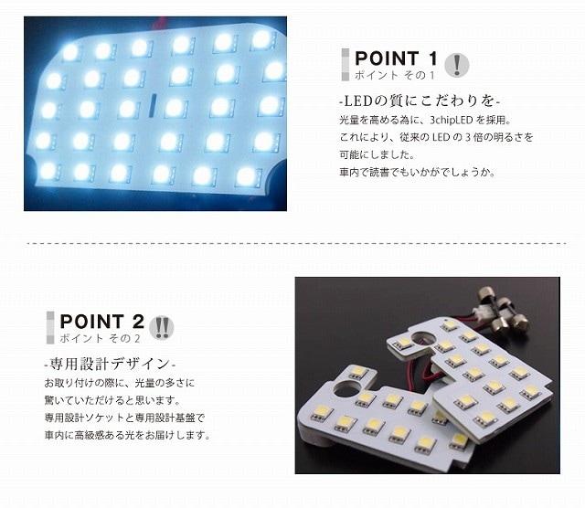 フォレスター SJ系【前期/後期対応】スバル アイサイト搭載グレード用 3chip LED ルームランプ 6セット 192発