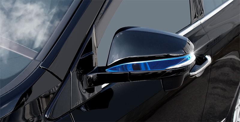 トヨタ ハリアー 60系 ドアミラー アンダーライン ガーニッシュ 2p 鏡面仕上げ