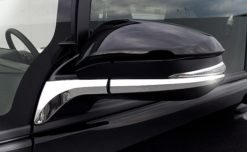 ノア ヴォクシー 80系 トヨタ ドアミラー/サイドミラー アンダーライン ガーニッシュ 左右セット メッキ仕上げ
