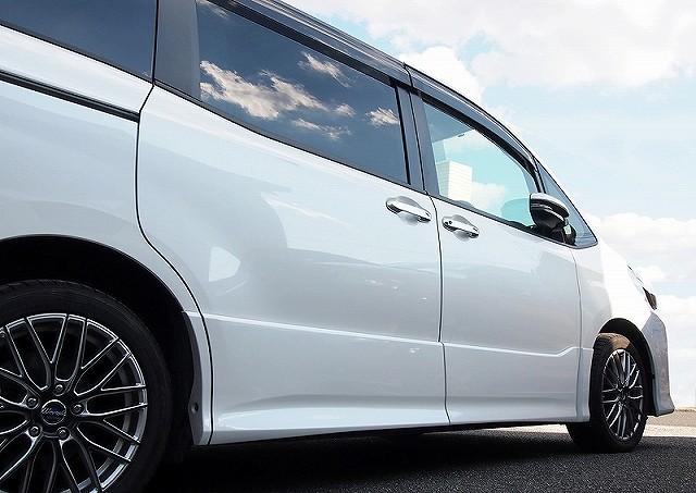 ノア ヴォクシー 80系 トヨタ フロント リア ドアノブカバー ガーニッシュ 12P メッキ仕上げ