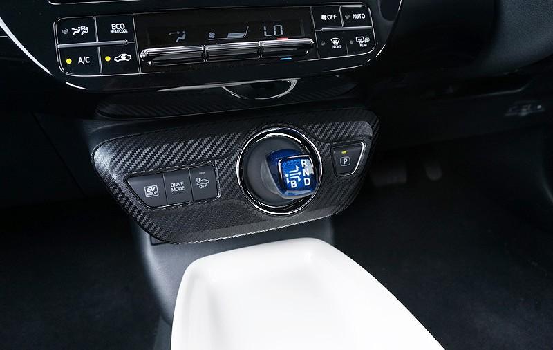 プリウス 50系 ZVW50 トヨタ シフトベースパネル インテリアパネル メッキ×カーボン柄 シフトノブ周り