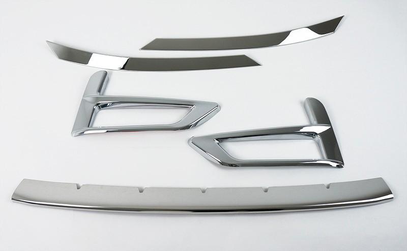 新型セレナ C27 ハイウェイスター系専用 フロントフォグガーニッシュ 2P & ロアグリルガーニッシュ 1P & ヘッドライトガーニッシュ 2P 外装3点セット