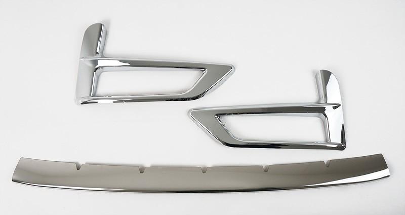 新型セレナ C27 ハイウェイスター系専用 フロントフォグガーニッシュ 2P & ロアグリルガーニッシュ 1P 外装2点セット