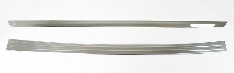 新型 セレナC27 ハイウェイスター系専用 リアバンパーステップガード 1P & リアガーニッシュ 1P 外装2点セット