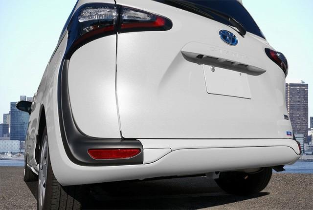 新型シエンタ 170系 リアバンパー ガーニッシュ パールホワイト仕上