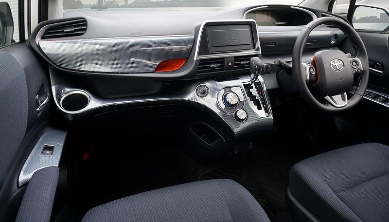 新型シエンタ 170系 インテリアパネル カーボン調 6Pセット