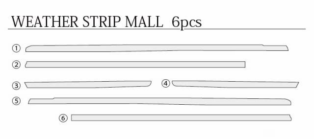 ステップワゴン RP1/2/3/4型 全グレード対応 フロント リア ウィンド トリム ガーニッシュ 6P ステンレス鏡面仕上げ
