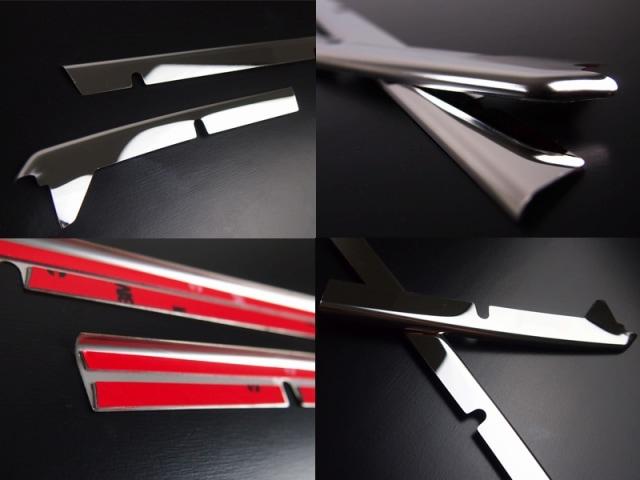 タントカスタム LA600S LA610S ダイハツ フロント グリル ガーニッシュ 2P 鏡面メッキ仕上げ