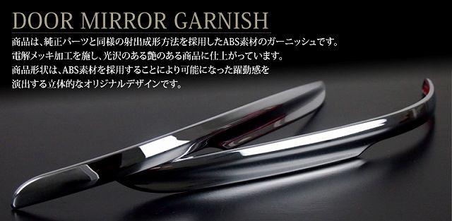 ヴェゼル ホンダ ライン形状 ドアミラー/サイドミラー ガーニッシュ 2p メッキ仕上げ