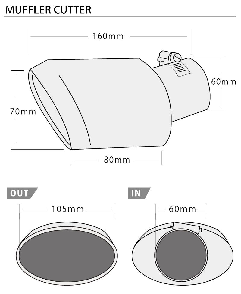 エクストレイル T32 日産 シルバー オーバル マフラーカッター シングル ステンレス素材