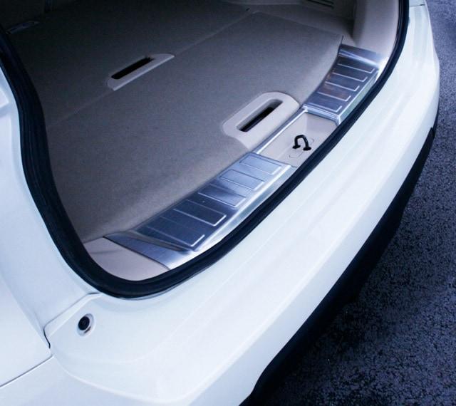 エクストレイル T32 日産 ラゲッジキッキングプレート & リア バンパー ステップガード 保護パーツ2点セット