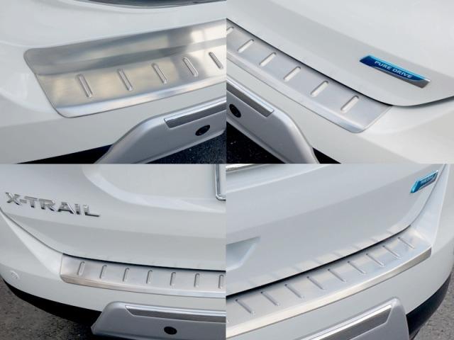 エクストレイル T32 日産 リア バンパー ステップガード キッキングプレート ステンレス素材