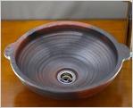 利休信楽のボウル 窯自然釉松灰