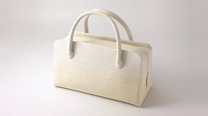和装バッグ・利休バッグ フォーマル用葵バッグ「彩ぼかし」ベージュ×金