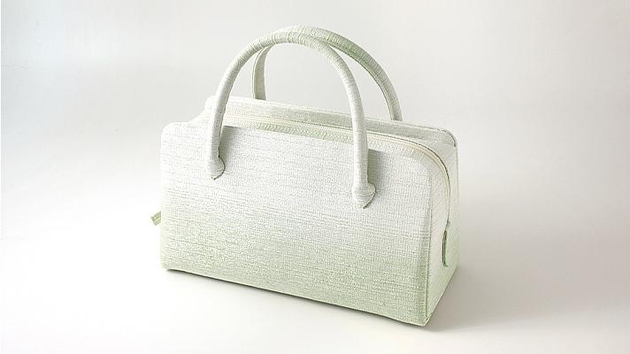 和装バッグ・利休バッグ フォーマル用葵バッグ「彩ぼかし」緑