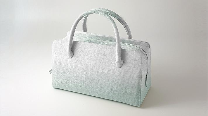 和装バッグ・利休バッグ フォーマル用葵バッグ「彩ぼかし」水色