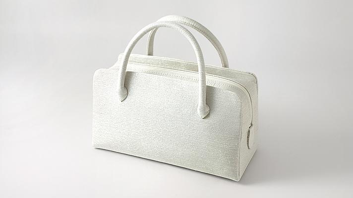 和装バッグ・利休バッグ フォーマル用葵バッグ「彩ぼかし」白銀