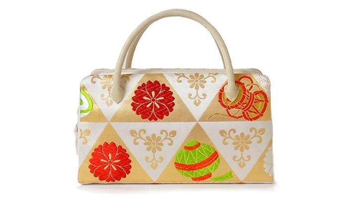 和装バッグ(着物用ハンドバッグ)結婚式・成人式用 葵バッグ「桜花鱗紋」