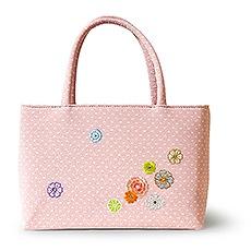雅バッグ「うらら花」A. ピンク
