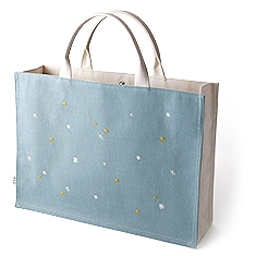 トートバッグ「星夜」 B. ブルー