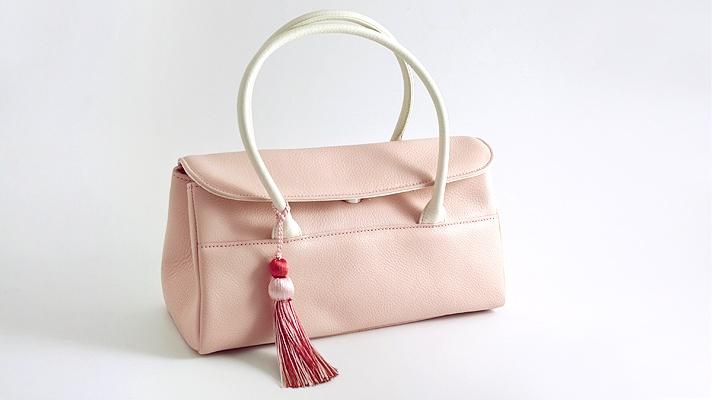 和装バッグ 本革カジュアルバッグ「タッセル付き レザーハンドバッグ」井澤屋