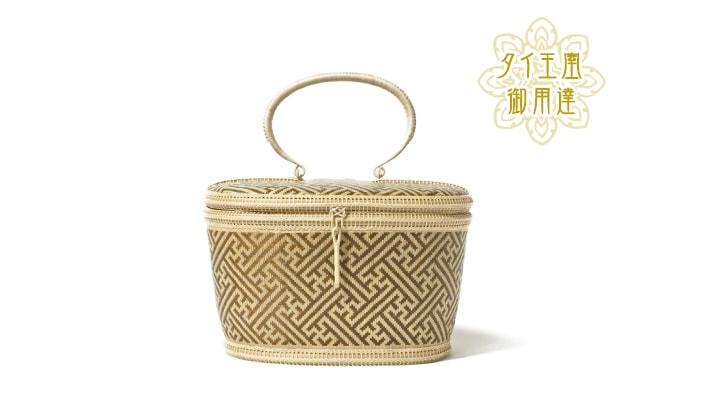 タイ製 竹細工 ミニハンドバッグ オーバル