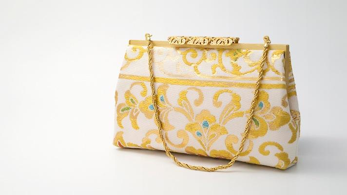 和装バッグ・パーティーバッグ 2wayクラッチバッグ「透彫栄華文」着物・振袖用ハンドバッグ 成人式・パーティー 井澤屋
