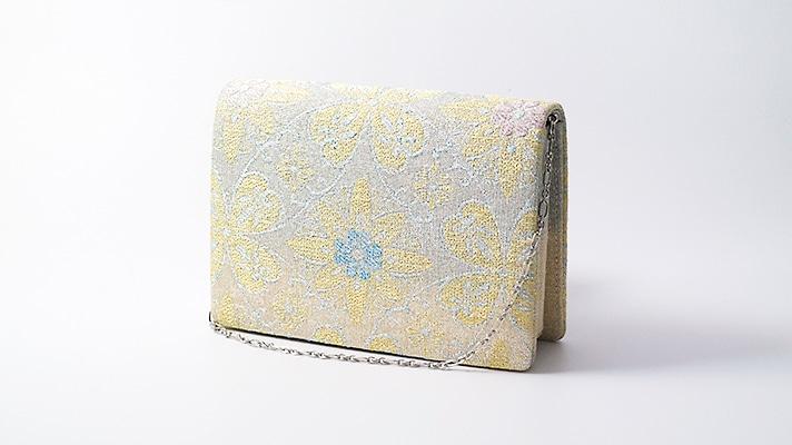 和装バッグ・パーティーバッグ 2wayクラッチバッグ「ねん金綴七宝飾文」小 着物・振袖用ハンドバッグ 成人式・フォーマル 井澤屋