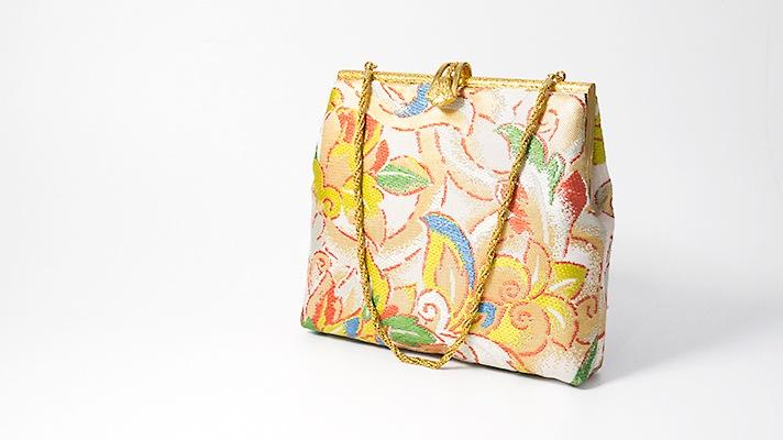 和装バッグ・パーティーバッグ 2wayクラッチバッグ「清風花葉文」小 着物・振袖用ハンドバッグ 成人式・フォーマル 井澤屋