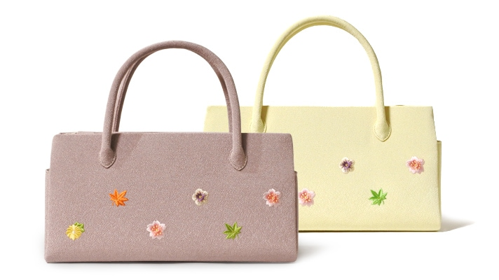 ふたばバッグ横長 「小花ちらし」