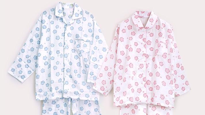 着心地満点・女性用ガーゼパジャマ「りんりん」 レディース ホームウェア 井澤屋