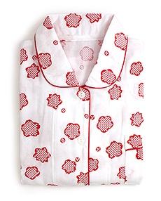 女性用ガーゼパジャマ「りんりん」 A. あか