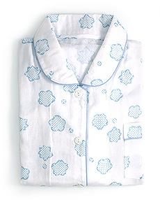 女性用ガーゼパジャマ「りんりん」 C. みずいろ