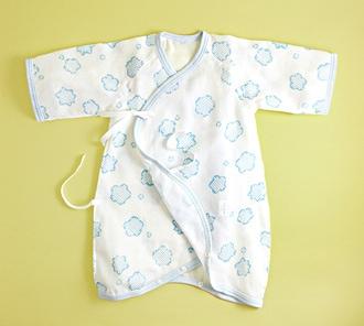 りんりん赤ちゃん用ガーゼ肌着(コンビ)「みずいろ」