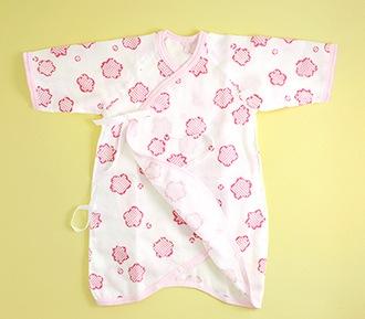 りんりん赤ちゃん用ガーゼ肌着(コンビ)「ぴんく」