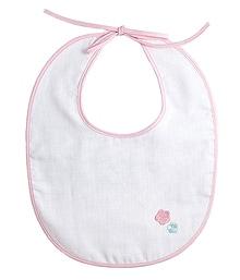 京和晒綿紗 赤ちゃん用ガーゼスタイ(よだれ掛け) A.ピンク:おはな(ピンクA)