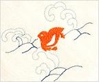 オーガニックガーゼタオル「千鳥」生成り