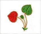 ミニガーゼ刺繍ハンカチ「14. 葵」