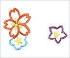 ミニガーゼ刺繍ハンカチ「9. 花尽くし」