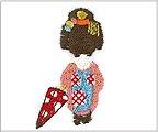 ミニガーゼ刺繍ハンカチ「7. 舞妓(傘)」