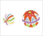 ミニガーゼ刺繍ハンカチ「2. 手毬」