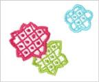 ミニガーゼ刺繍ハンカチ「X. りんりん」