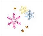 ミニガーゼ刺繍ハンカチ「25. 雪の結晶」