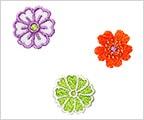 ミニガーゼ刺繍ハンカチ「10. うらら花」
